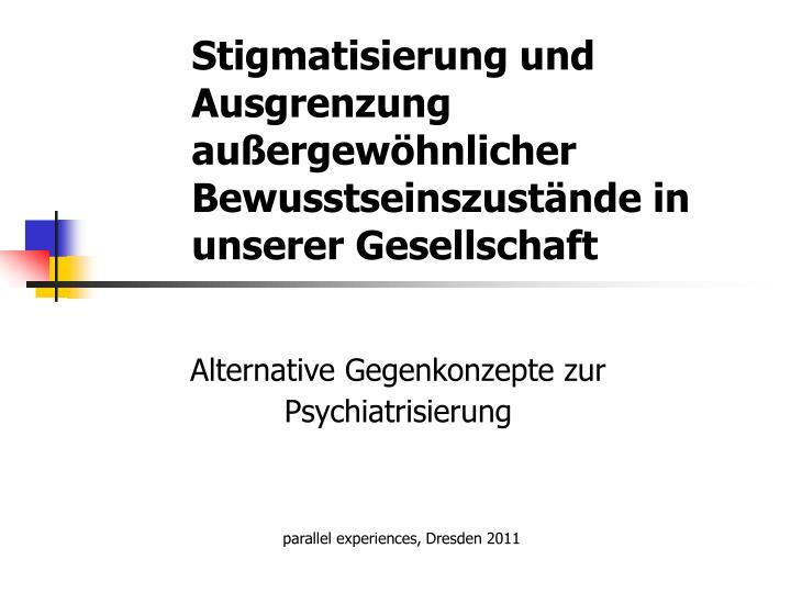 Stigmatisierung und Ausgrenzung