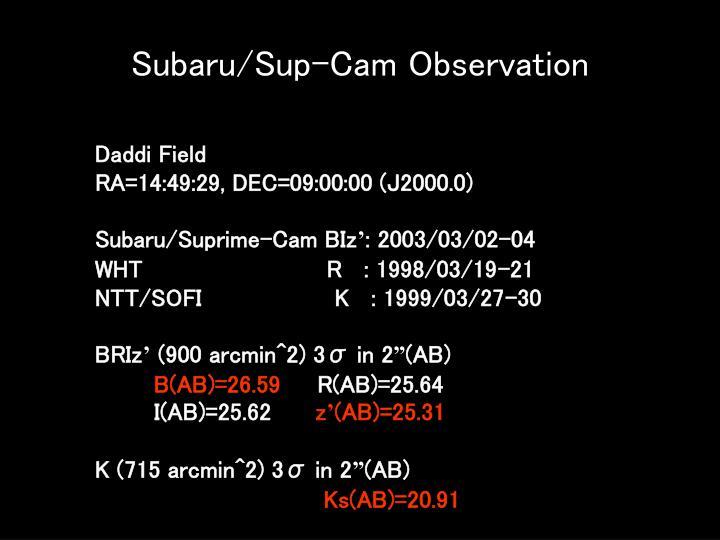 Subaru/Sup-Cam Observation