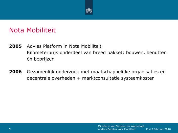 Nota Mobiliteit