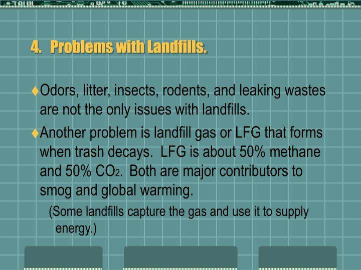 4.   Problems with Landfills.