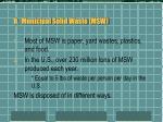 b municipal solid waste msw