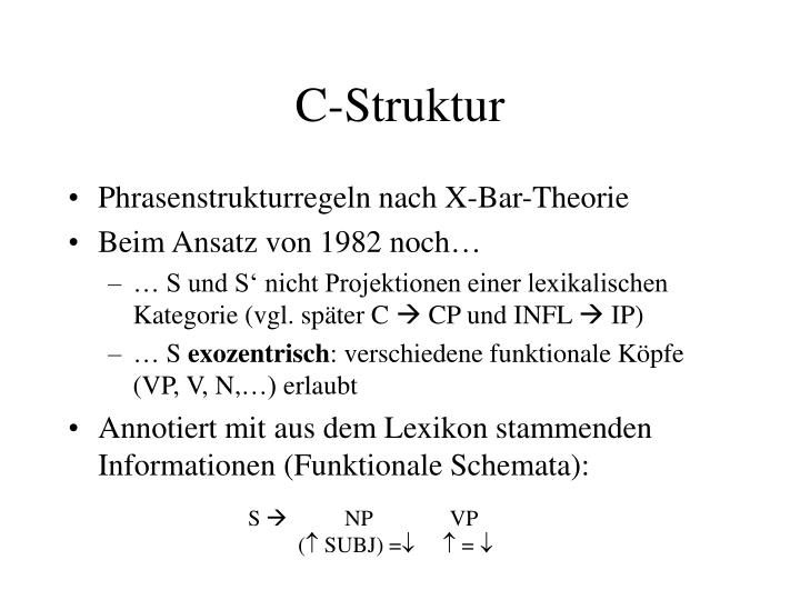 C-Struktur