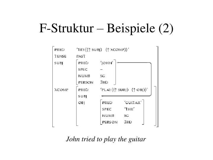 John tried to play the guitar