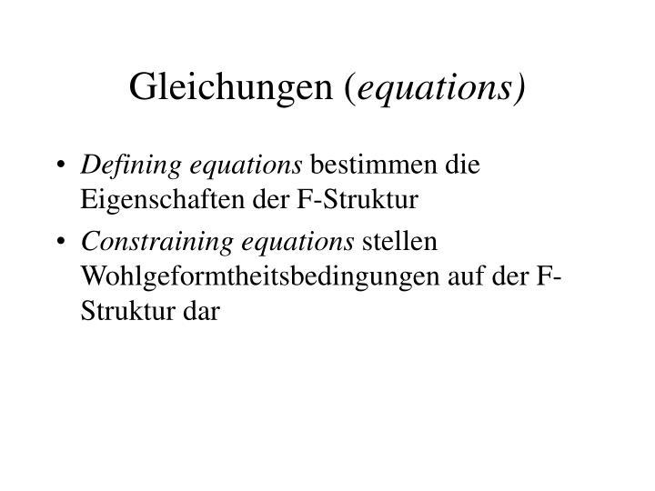 Gleichungen (