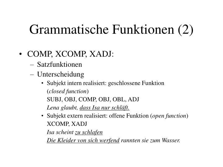 Grammatische Funktionen (2)