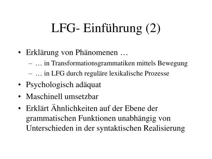 LFG- Einführung (2)