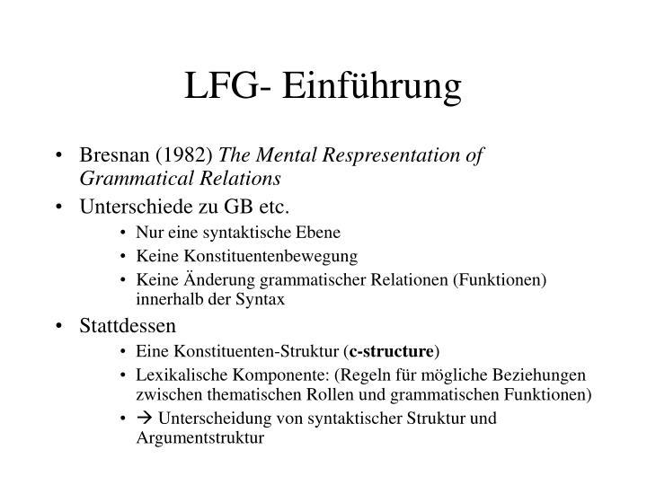 LFG- Einführung