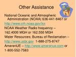 other assistance