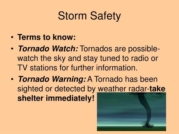Storm Safety
