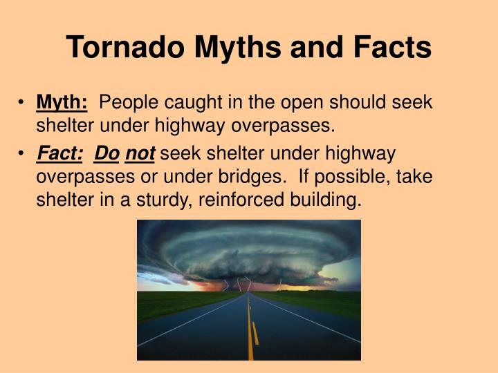 Tornado Myths and Facts