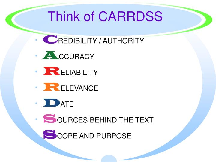 Think of CARRDSS