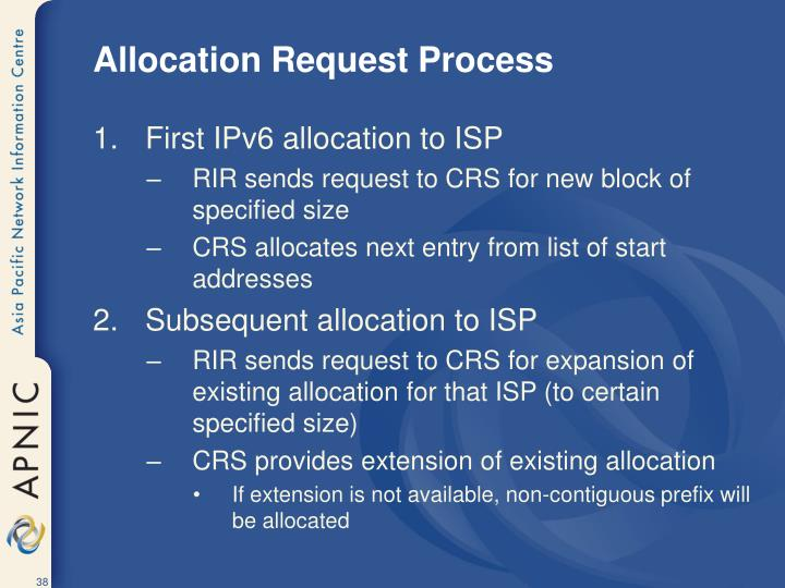 Allocation Request Process