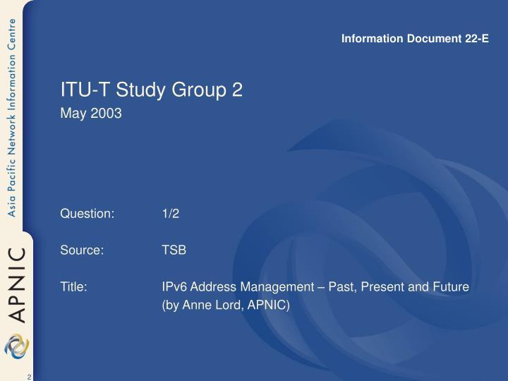 Information Document 22-E
