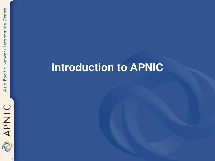Introduction to APNIC