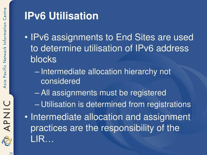 IPv6 Utilisation
