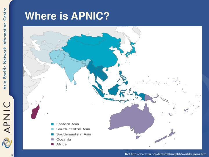 Where is APNIC?