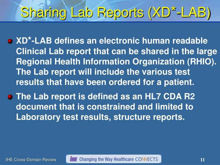Sharing Lab Reports (XD