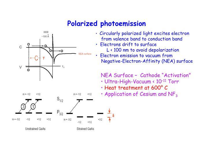 Polarized photoemission