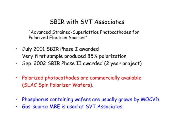 SBIR with SVT Associates