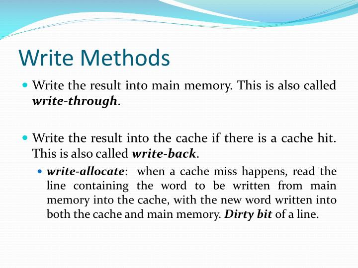 Write Methods