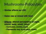 mushrooms psilocybin