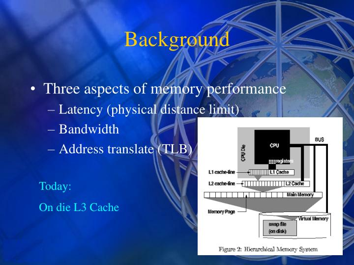 Three aspects of memory performance