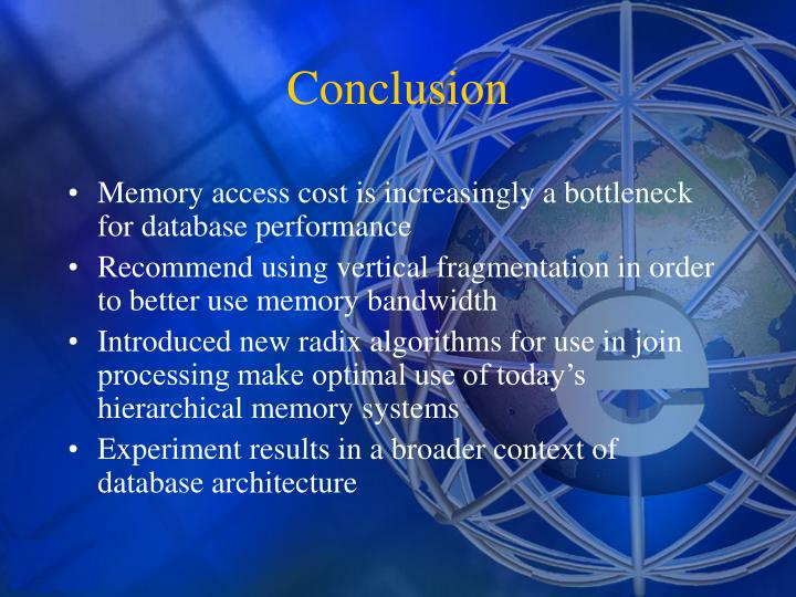 Memory access cost is increasingly a bottleneck for database performance