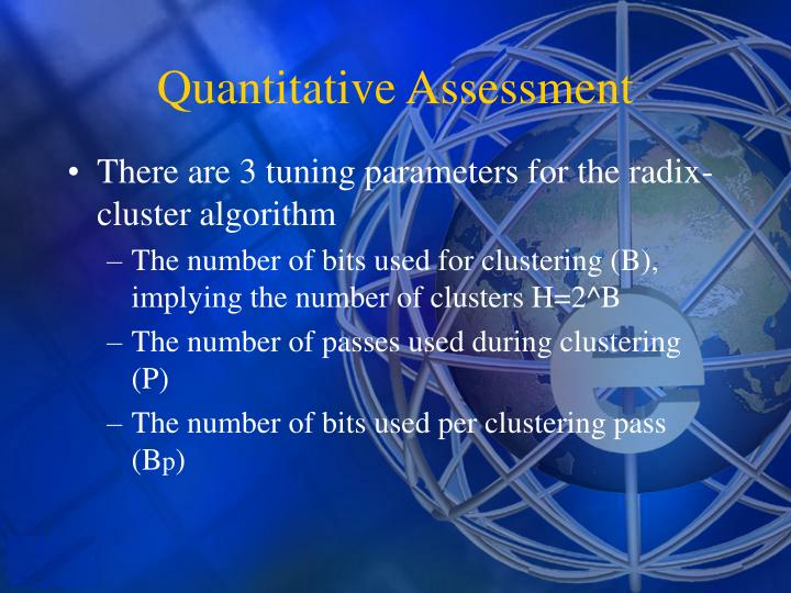 There are 3 tuning parameters for the radix-cluster algorithm
