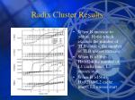 radix cluster results