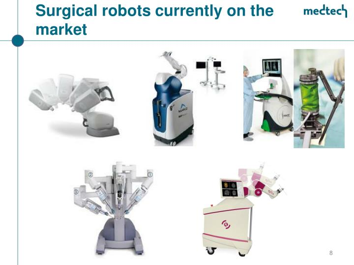 Surgical robots currently on the market