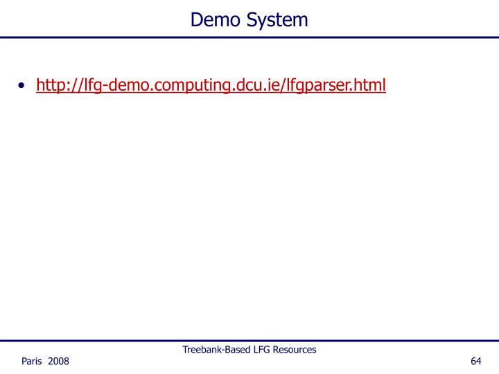 Demo System