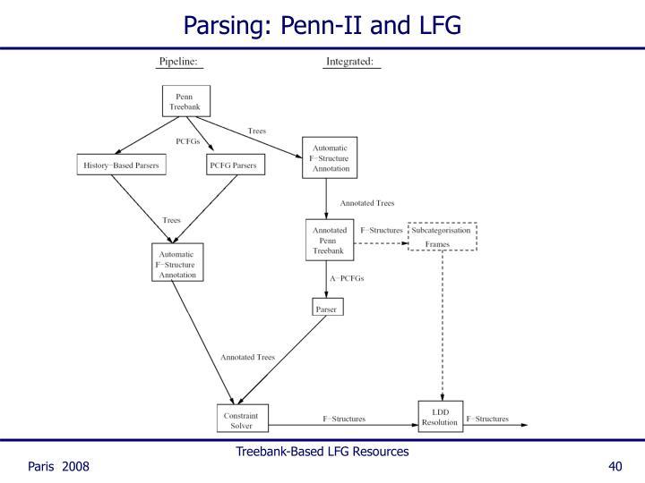 Parsing: Penn-II and LFG