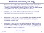 references generation lex acq