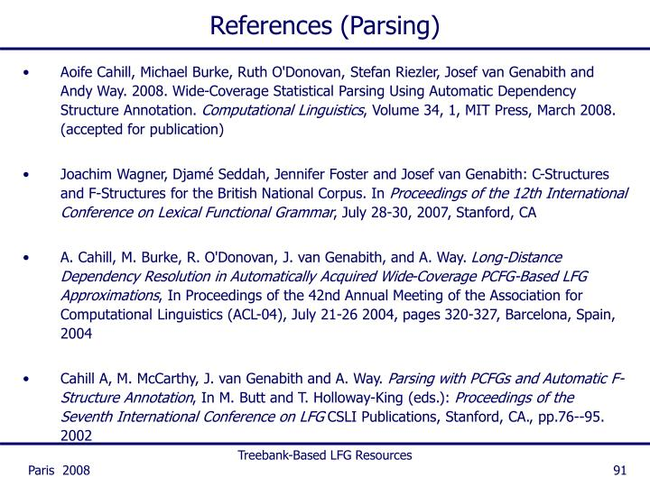 References (Parsing)
