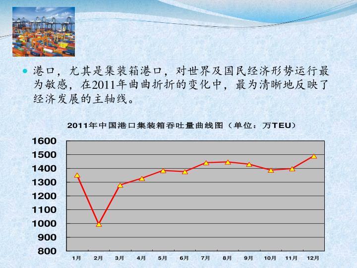 港口,尤其是集装箱港口,对世界及国民经济形势运行最为敏感,在
