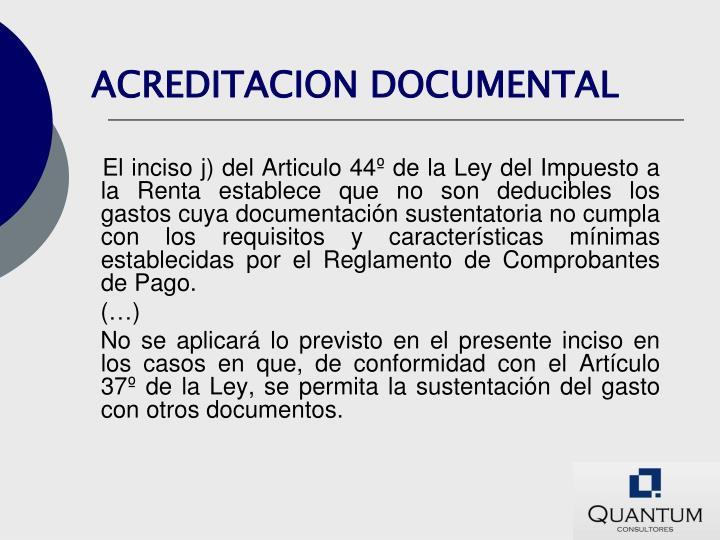 ACREDITACION DOCUMENTAL