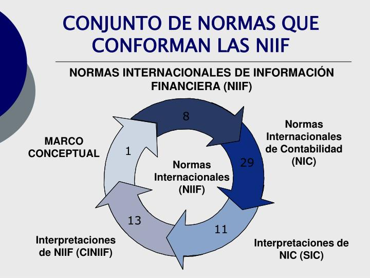 CONJUNTO DE NORMAS QUE CONFORMAN LAS NIIF