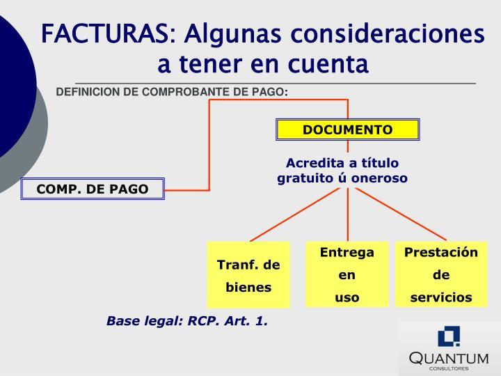 DEFINICION DE COMPROBANTE DE PAGO