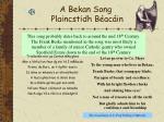 a bekan song plaincstidh b ac in