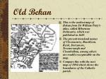 old bekan