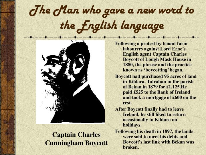 The Man who gave a new word to the English language