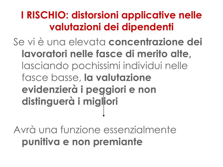 I RISCHIO: distorsioni applicative nelle valutazioni dei dipendenti