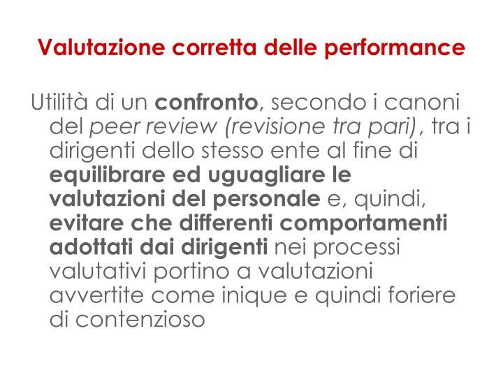 Valutazione corretta delle performance