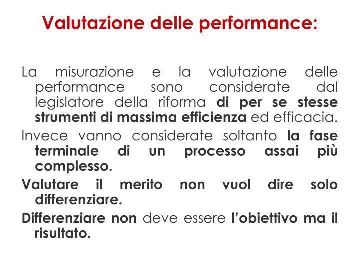 Valutazione delle performance:
