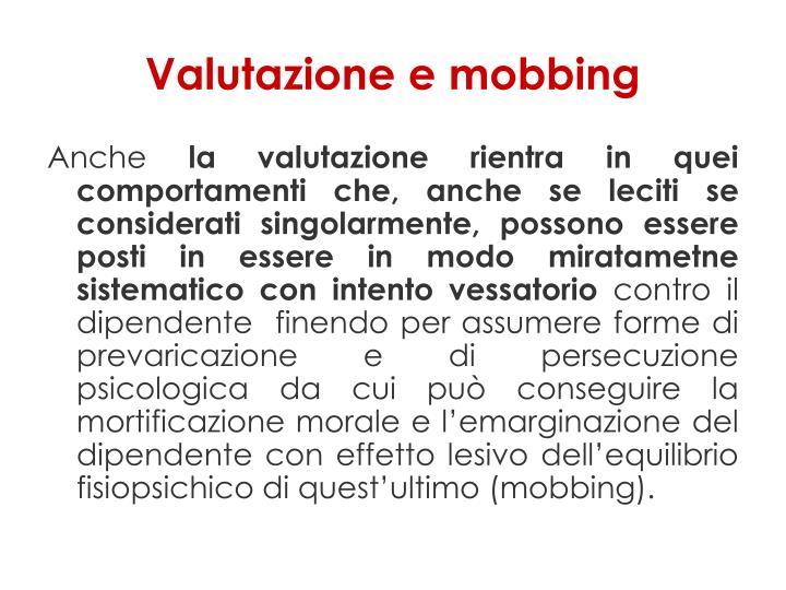 Valutazione e mobbing
