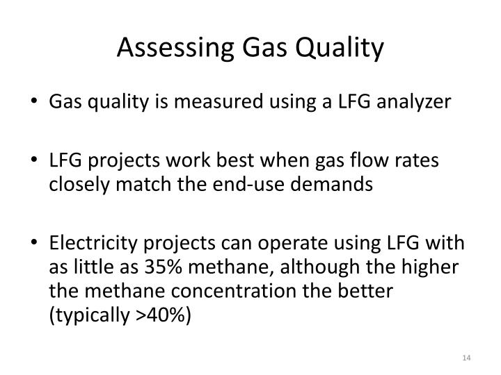 Assessing Gas Quality
