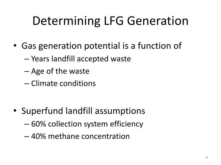 Determining LFG Generation