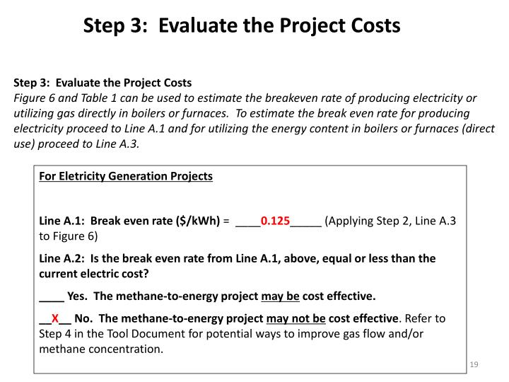 Step 3:  Evaluate the Project Costs