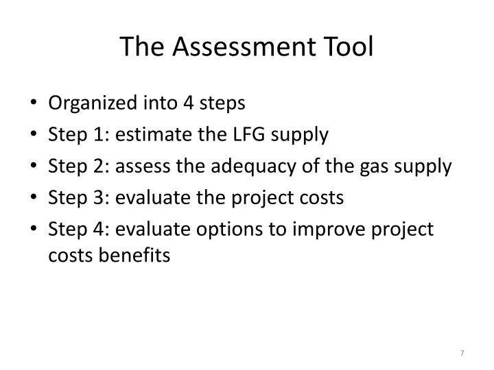 The Assessment Tool