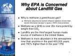 why epa is concerned about landfill gas